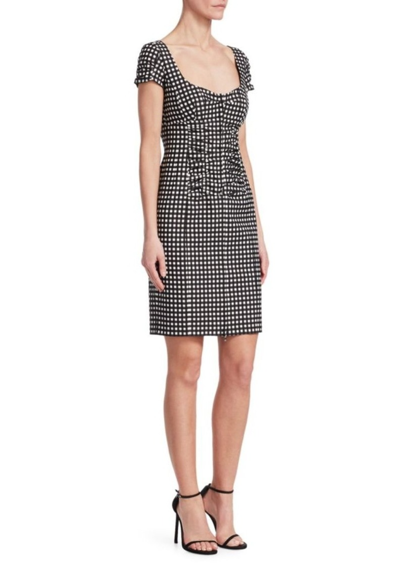 Nanette Lepore Check Me Out Front Zip Dress