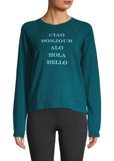 Nanette Lepore Circle Hem Graphic Sweatshirt