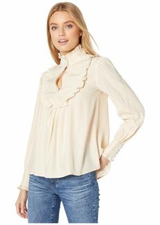Nanette Lepore Collar Silk Blouse
