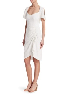 Nanette Lepore Core Portrait Ruched Cutout Dress