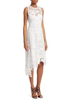 Nanette Lepore Diva Asymmetric Lace Dress