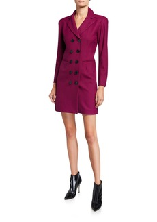Nanette Lepore Double-Breasted Houndstooth Coat Dress