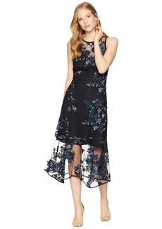 Nanette Lepore Essense Embroidered Lace Midi Dress