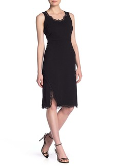 Nanette Lepore Eyelash Lace Trim Sheath Dress