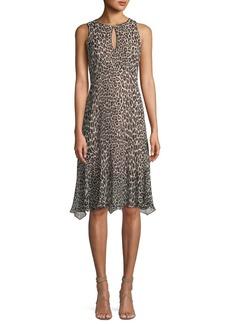 Nanette Lepore Ferocious Leopard-Print Sleeveless Dress