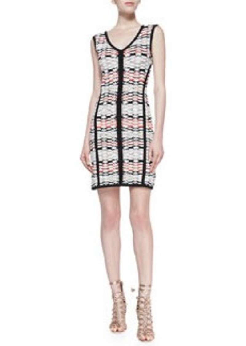 Nanette Lepore Fierce Printed Solid-Trim Knit Sheath Dress   Fierce Printed Solid-Trim Knit Sheath Dress