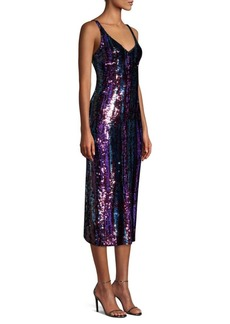 Nanette Lepore Fire Breather Sequin Slip Dress