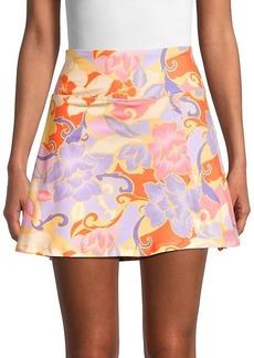 Nanette Lepore Floral A-line Mini Skirt