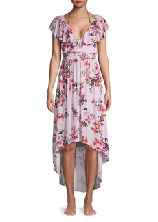 Nanette Lepore Floral High-Low Cover-Up Dress