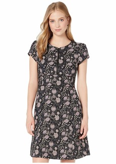 Nanette Lepore Floral Jacquard Zip Dress