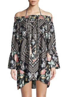 Nanette Lepore Floral Smocked Cover-Up Tunic