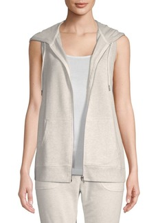 Nanette Lepore Front-Zip Sleeveless Hoodie