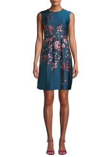 Nanette Lepore Glasgow Silk Dress w/ Flowers