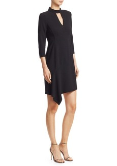 Nanette Lepore Heartthrob Asymmetric Crepe Mini Dress