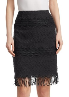 Nanette Lepore High-Rise Cotton Pencil Skirt