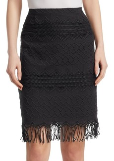 Nanette Lepore High-Rise Cotton Pencil Skirt
