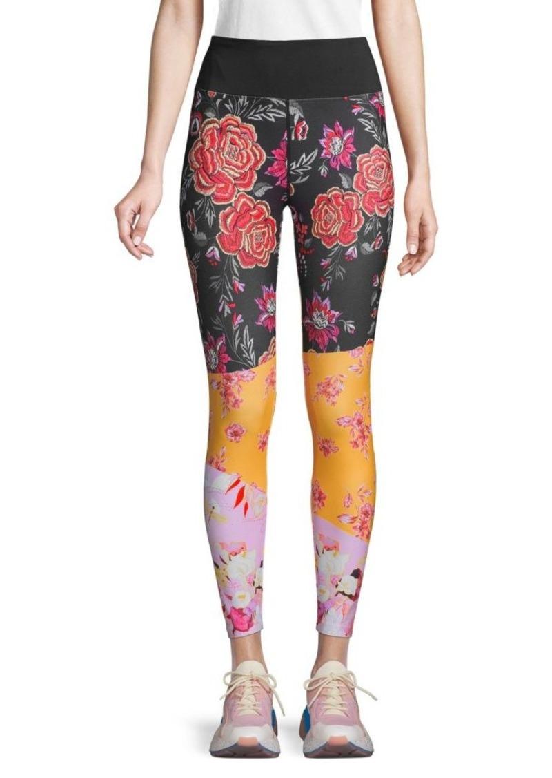 Nanette Lepore High-Rise Floral Colorblock Leggings
