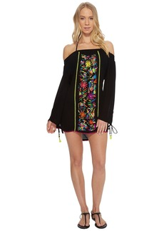 Nanette Lepore Isla Marietas Off the Shoulder Tunic Cover-Up