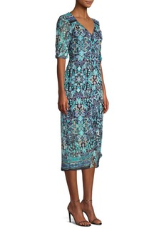 Nanette Lepore Jester Printed Ruffle Dress