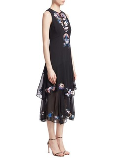Nanette Lepore Journey Floral Tiered Midi Dress