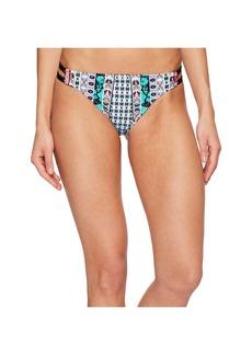 Nanette Lepore Kimono Patchwork Vamp Cheeky Bikini Bottom