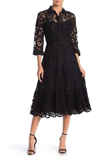 Nanette Lepore Lace Midi Shirt Dress