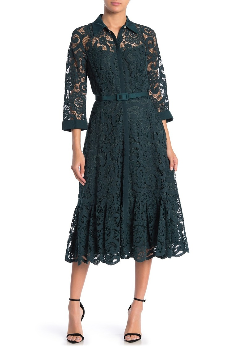Nanette Lepore Lace Midi Shirt Dress (Regular & Plus Size)