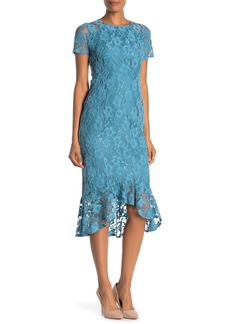 Nanette Lepore Lace Ruffle High/Low Dress
