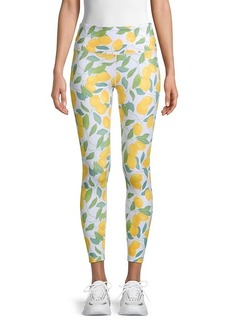 Nanette Lepore Lemon-Print Cropped Leggings