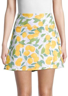 Nanette Lepore Lemon-Print Mini Skirt