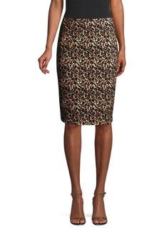 Nanette Lepore Leopard Print Pencil Skirt