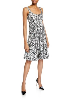 Nanette Lepore Leopard Scoop-Neck Sleeveless Fit-&-Flare Dress