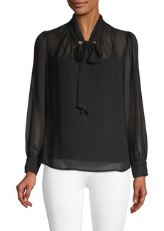Nanette Lepore Long-Sleeve Bow Blouse