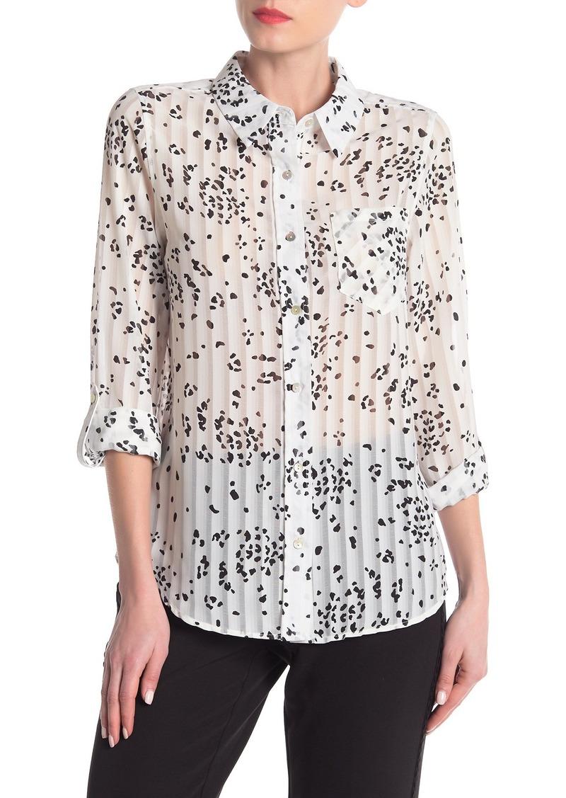 Nanette Lepore Printed Long Sleeve Blouse