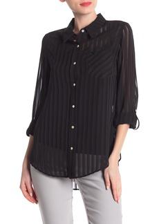 Nanette Lepore Striped Long Sleeve Blouse
