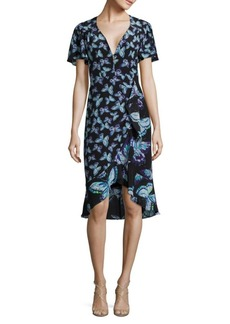 Nanette Lepore Mariposa Butterfly-Print Silk Dress