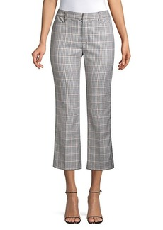 Nanette Lepore Maverick Cropped Check Trousers