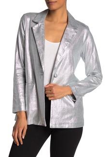 Nanette Lepore Metallic Knit Blazer