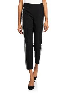 Nanette Lepore Mid-Rise Side-Stripe Track Pants