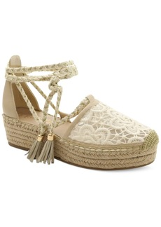Nanette by Nanette Lepore Bitsy Crochet Flatform Espadrilles Women's Shoes