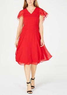 Nanette by Nanette Lepore Cape-Sleeve Dress, Created for Macy's