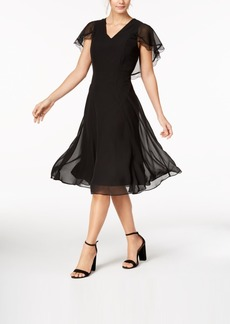 Nanette by Nanette Lepore Chiffon Cape-Sleeve Dress, Created for Macy's