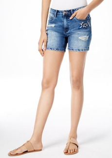 Nanette by Nanette Lepore Embroidered Denim Shorts, Only at Macy's