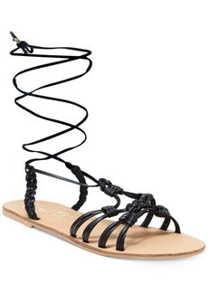 Nanette by Nanette Lepore June Flat Lace-Up Sandals, Only at Macy's Women's Shoes