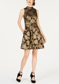 Nanette by Nanette Lepore Metallic Jacquard Dress, Created for Macy's