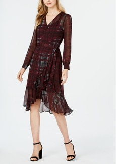 Nanette by Nanette Lepore Plaid Wrap Dress, Created for Macy's