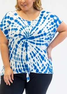 Nanette Lepore Play Plus Size Tie-Dyed T-Shirt, Created for Macy's
