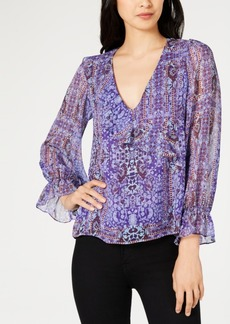 Nanette by Nanette Lepore Printed Peasant Top, Created for Macy's