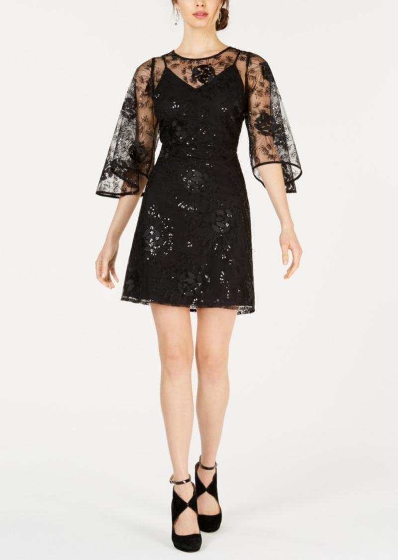4b6bcbe1d186d Nanette Lepore Nanette by Nanette Lepore Tulip-Sleeve Sequin Dress ...