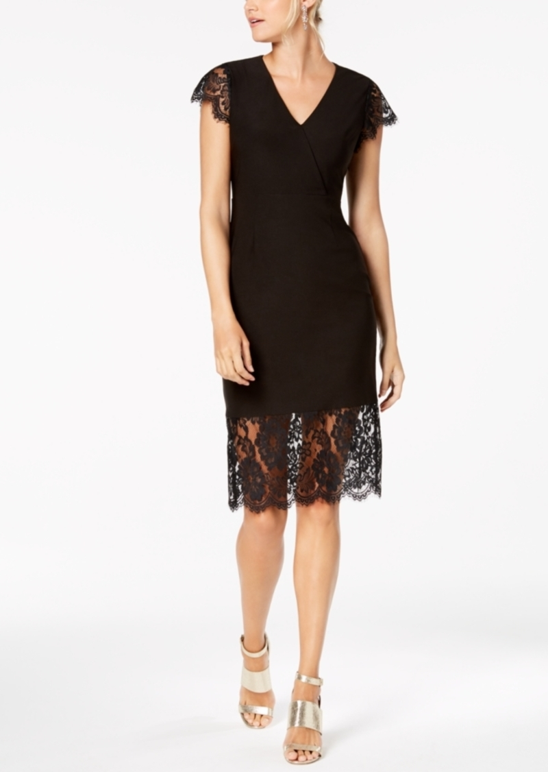Nanette by Nanette Lepore V-Neck Lace Midi Dress, Created for Macy's